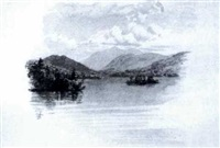 mountain lake&sailboats off clovelly beach&  beachcomber on the shore&mercato vecchio&backdoor by theodore william richards