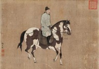 人马图 (riding horse) by zhao yi