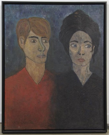 portrait of a couple by abraham walkowitz