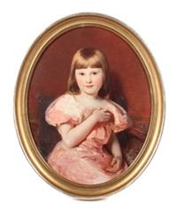 bildnis eines blonden mädchens mit rosafarbenem kleid by otto kreyher