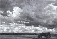 landschaft bei aufziehendem gewitter by richard voltz