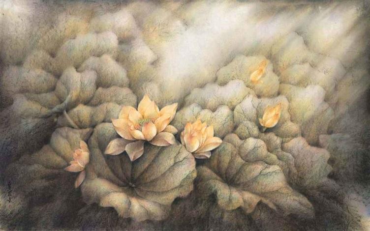 flowers in bloom by mai luowu
