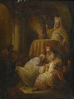 kristusbarnet frambäres i templet by salomon koninck