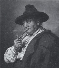 pfeifenraucher by hermann lindenschmit