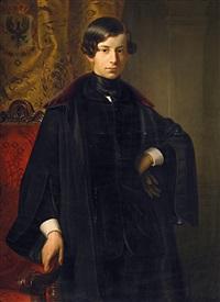 bildnis des prinzen georg von preußen (1826-1902) by ferdinand-theodor hildebrandt