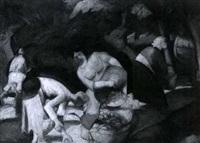 bäuerinnen bei der obsternte by wilhelm runze