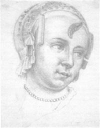 porträt einer dame mit haube by willem bartel van der kooi
