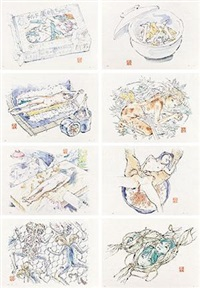 食用人造少女美味系列 (八张一套) (set of 8) by makoto aida