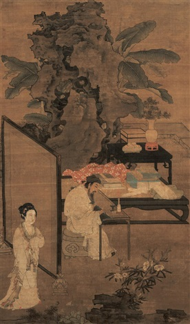 romantic garden zhuo wenjin listening to the qin by du jin