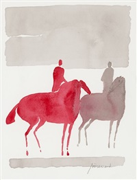 two horses (sold with 280b&c; set of 3) by paul guiramand
