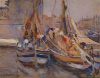 barche in porto by lodovico tommasi