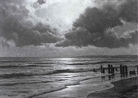 abend am strand by carl kenzler