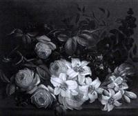 stillleben mit rosen, lilien und malven by edwin steele