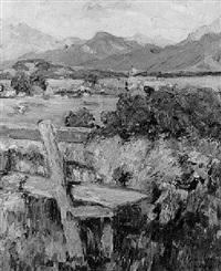 blick auf den chiemsee mit der fraueninsel by valeska glamann