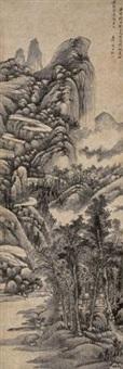 山水轴 (landscape) by xu rong