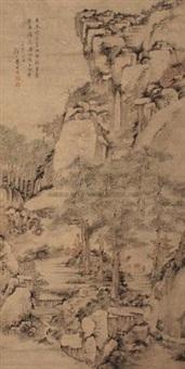 松下煎泉图 (landscape) by xiao yuncong