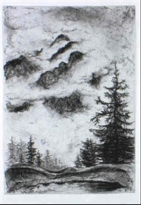 motive von der wurmegg-alpe (alpbach/tirol) und umgebung by hans leip