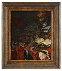 stilleben - memento mori by vincent laurensz van der vinne the elder