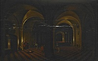 figurscen i katedral by hendrick van steenwyck the younger