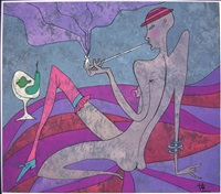 rauchende frau by anastasia neljubina