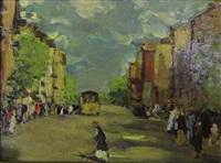 rue animée by leonard (leonid) viktorovich turzhansky