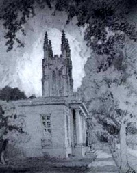 view of a church by howard leigh