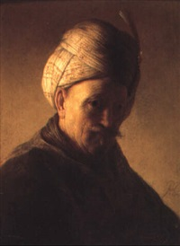 man with turban, circa 1630 by jacques des rousseaux
