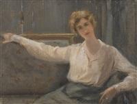 sitzende dame by arthur chaplin