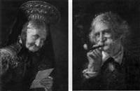 porträt einer alten bäuerin mit brief by eugen lingenfelder