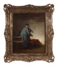 geigenspieler by wilhelm roegge the younger