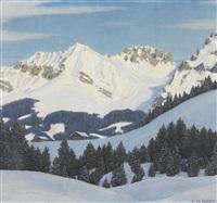 verschneite berglandschaft by hans arnold daepp