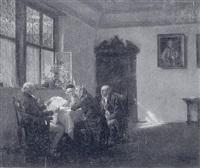 männerrunde in niederländischer stube by wilhelm roegge the younger