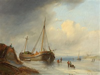 maritime winterlandschaft by egidius linnig