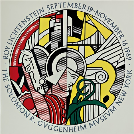 ausst plakat the solomon r guggenheim museum by roy lichtenstein