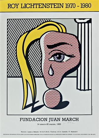 plakat muchacha con lágrima iii für die ausst roy lichtenstein 1970 1980 in der fundacion juan march by roy lichtenstein