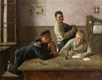 drei kameraden auf der stube by karl müller