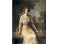 portrait of miss geneviev power, daughter of r. power of boston, mass. by frank percy wild