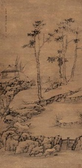 山水 (landscape) by jiang zhu