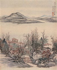平湖春色 (spring at lake ping) by xu mei