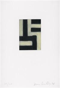 funf radierungen fur hans-georg gadamer (5 works) by sean scully
