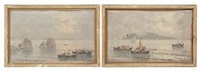 italian seascapes (pair) by fernando del basso