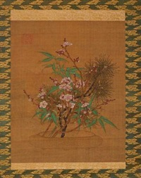 清 松竹梅 by anonymous-chinese (qing dynasty)