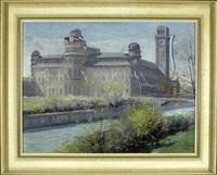 münchen - deutsches museum mit isarbrücke by alois pfund