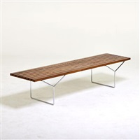 slat bench by harry bertoia