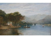 the ferry, windermere by william linton