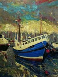 blue boat by shahin memishi