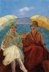 şemsiyeli kadınlar by refet basokçu