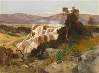 blick auf die sinterterrassen von pamukkale in der türkei by paul reiffenstein