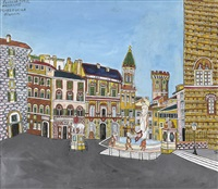 piazza della signoria in florenz by emerik fejes