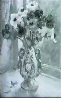anemonen in porzellanvase by clemen jeppe clemmensen